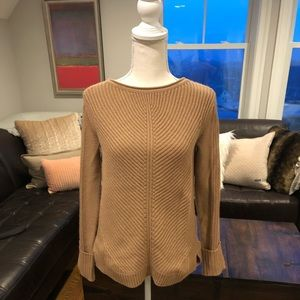Vince camel knit sweater size small